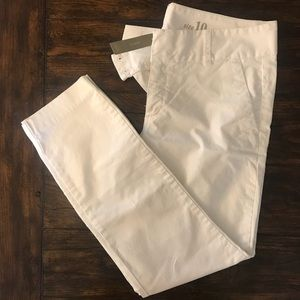 J. Crew || Andie White Dress Pants NWT
